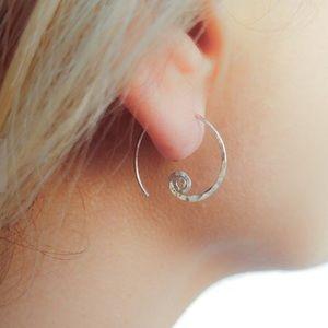 925/14K Spiral Threader Earrings